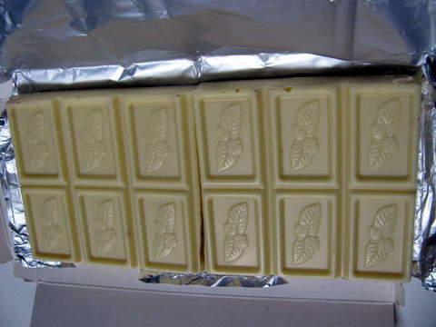 業務スーパー「ベルギー直輸入 クランチホワイトチョコレート」