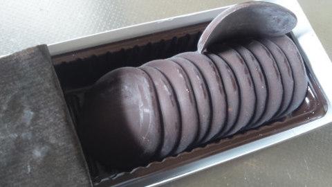 業務スーパーの「コイン型ダークチョコレート」158円(税別)