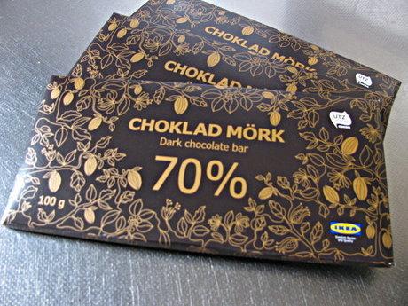 「CHOKLAD MÖRK ダークチョコレート70%」IKEA