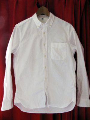 オーガニックコットン洗いざらしオックスボタンダウンシャツ 紳士XS・ダークネイビー | 無印良品ネット