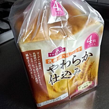 トップバリュ「乳酸菌でしっとり やわらか仕込み」4枚切り食パン