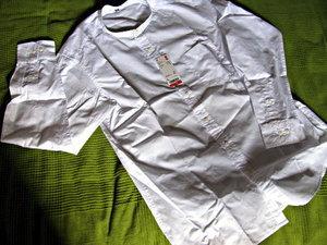 ユニクロ「エクストラファインコットンブロードスタンドカラーシャツ(長袖)」