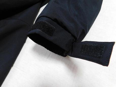 ウィンドプルーフ中綿ビッグコート 袖口