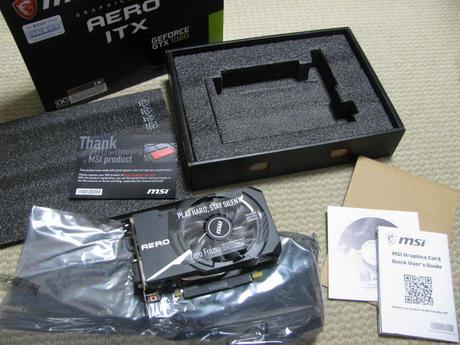 MSI GeForce GTX 1060 AERO ITX 6G OC 中身